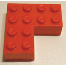 LEGO Brick 4 x 4 Corner without Bottom Tubes