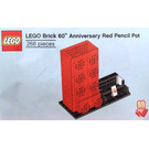 LEGO Brick 60th Anniversary Red Pencil Pot Set 6258618