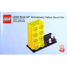 LEGO Brick 60th Anniversary Yellow Pencil Pot Set 6258619