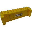 LEGO Brick Hollow 4 x 12 x 3 with 8 Pegholes with '7633', Flap (Both Sides) Sticker (52041)