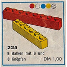 LEGO Brick Pack, 1 x 6 and 1 x 8 Set 225