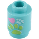LEGO Brick Round 1 x 1 with Paw Prints with Open Stud (99939)