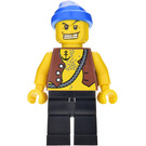 LEGO Brickbeard's Bounty / Tic Tac Toe Pirate with Golden Tooth Minifigure
