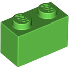 LEGO Bright Green Brick 1 x 2 (3004)