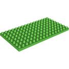 LEGO Bright Green Duplo Plate 8 x 16 (6490 / 61310)