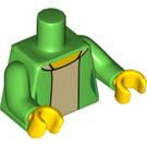 LEGO Bright Green Edna Krabappel Minifig Torso (88585)