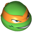 LEGO Bright Green Michelangelo Head (17828)