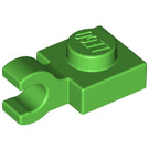 LEGO Bright Green Plate 1 x 1 with Horizontal Clip (Thick Open 'O' Clip) (61252)