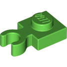 LEGO Bright Green Plate 1 x 1 with Vertical Clip (Thick Open 'O' Clip) (44860 / 60897)
