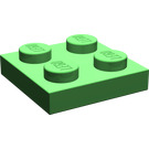 LEGO Bright Green Plate 2 x 2 (3022)
