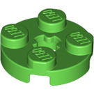 LEGO Bright Green Plate 2 x 2 Round with Axle Hole (with '+' Axle Hole) (4032)
