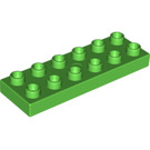 LEGO Bright Green Plate 2 x 6 (98233)