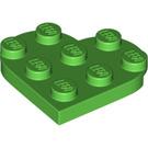 LEGO Bright Green Plate 3 x 3 Heart (39613)