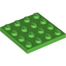 LEGO Bright Green Plate 4 x 4 (3031)