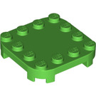 LEGO Bright Green Plate 4 x 4 x 2/3 Circle with Reduced Knobs (66792)