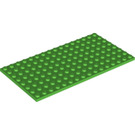 LEGO Bright Green Plate 8 x 16 (92438)