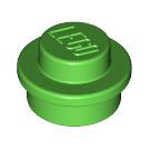 LEGO Bright Green Round Plate 1 x 1 (6141)
