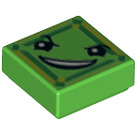 LEGO Bright Green Tile 1 x 1 with Decoration with Groove (29404)