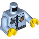 LEGO Bright Light Blue Male Police Jacket with Radio & Badge (76382)