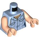 LEGO Bright Light Blue Rachel Green Minifig Torso (76382)