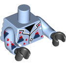 LEGO Bright Light Blue Volcano garmadon Minifig Torso (34713)