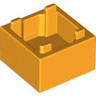 LEGO Bright Light Orange Box 2 x 2 Bottom (59121)