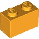 LEGO Bright Light Orange Brick 1 x 2 (3004)
