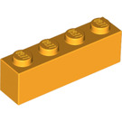 LEGO Bright Light Orange Brick 1 x 4 (3010)