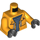 LEGO Bright Light Orange Captain Jones Minifig Torso (76382)