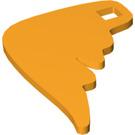 LEGO Bright Light Orange Felt with Design (66833)