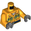 LEGO Bright Light Orange Firefighter with Lifejacket Minifig Torso (76382)