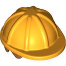LEGO Bright Light Orange Minifig Construction Helmet with Medium Dark Flesh Hair (16175)