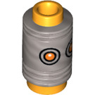 LEGO Bright Light Orange Minifigure Eraser Head with Mat Silver Pencil Top with Orange Eyes Decoration (29030)