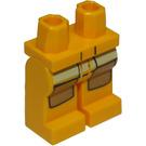 LEGO Orange clair brillant Minifigure Hanches et jambes avec Brown Kneepads et Jaune Pockets (10279 / 14998)