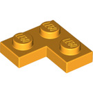 LEGO Bright Light Orange Plate 2 x 2 Corner (2420)
