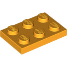 LEGO Bright Light Orange Plate 2 x 3 (3021)