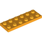 LEGO Bright Light Orange Plate 2 x 6 (3795)