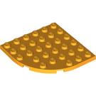 LEGO Bright Light Orange Plate 6 x 6 Round Corner (6003)