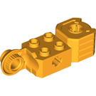 LEGO Bright Light Orange Technic Brick 2 x 2 with Axle Hole, Vertical Hinge Joint, and Fist (47431)