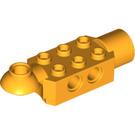 LEGO Bright Light Orange Technic Brick 2 x 3 with Horizontal Hinge and Socket (47454)