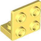 LEGO Bright Light Yellow Bracket 1 x 2 - 2 x 2 Up (99207)