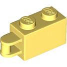 LEGO Bright Light Yellow Brick 1 x 2 with Shaft (Flush Shaft) (34816)