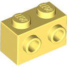 LEGO Bright Light Yellow Brick 1 x 2 with Studs on One Side (11211)