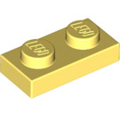 LEGO Bright Light Yellow Plate 1 x 2 (3023)