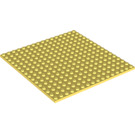 LEGO Bright Light Yellow Plate 16 x 16 with Underside Ribs (91405)
