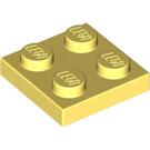 LEGO Bright Light Yellow Plate 2 x 2
