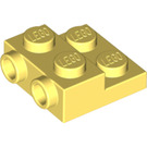 LEGO Bright Light Yellow Plate 2 x 2 x 2/3 with 2 Studs on Side (99206)