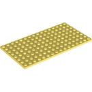 LEGO Bright Light Yellow Plate 8 x 16 (92438)