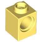 LEGO Bright Light Yellow Technic Brick 1 x 1 with Hole