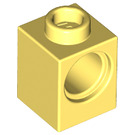 LEGO Bright Light Yellow Technic Brick 1 x 1 with Hole (6541)